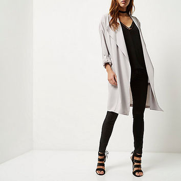 Light grey duster jacket - jackets - coats / jackets - women