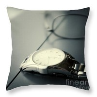 """Watch and spectacle vintage Throw Pillow for Sale by Ivy Ho - 16"""" x 16"""""""