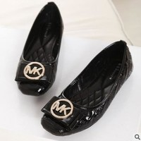 MK Michael Kors Lady Shoes Fashion Women Shoes Comfort flat shoes Black