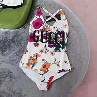GUCCI Flora Print Swimsuit Girl