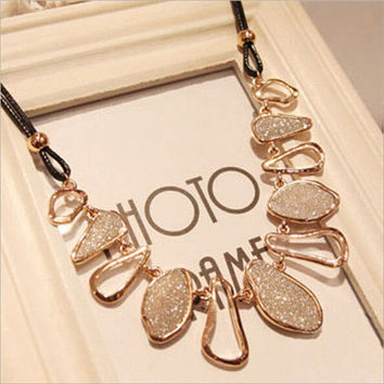 Women Fashion Chain Choker Bib Statement Charm Collar Pendant Necklace Jewelry