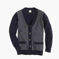 crewcuts Boys Cotton-Cashmere Cardigan Sweater In Stripe