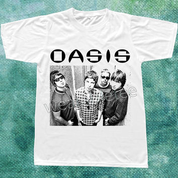 Oasis TShirts Alternative Rock TShirts Music TShirts White Tee Shirts Unisex TShirts Women TShirts Men TShirts Oasis Shirts