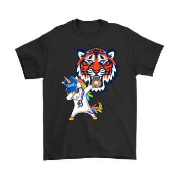 PEAPV4S Hip Hop Dabbing Unicorn Flippin' Love Detroit Tigers Shirts