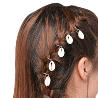 5pcs  Women Gold/Silver Star/Shell/Leaf  Hairpin Hair Clip Hair Accessories Set