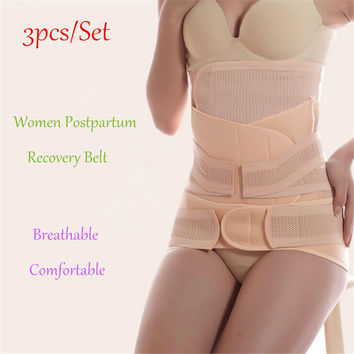3Pieces/Set Postpartum Belly Band for Pregnant Women Breathable After Pregnancy Belt Belly Binding Postpartum Bandage Waist Belt