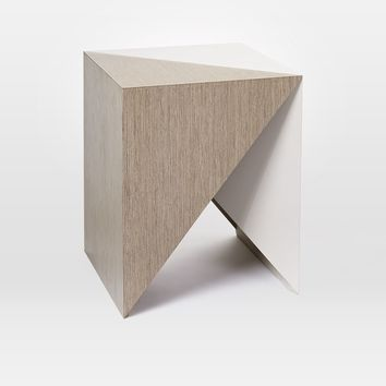FACETED LACQUER SIDE TABLE