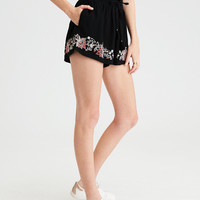 AE Embroidered Short, Black