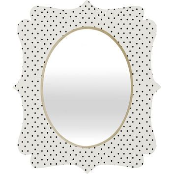 Allyson Johnson Tiny Polka Dots Quatrefoil Mirror