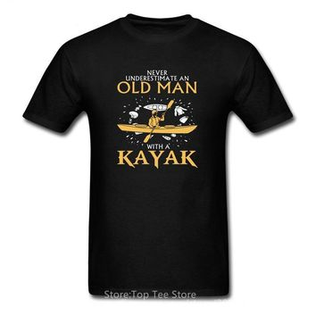 Never Underestimate An Old Man With A Kayak - Kayaking Grandpa T-shirt