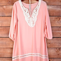 Peaches & Lace Dress