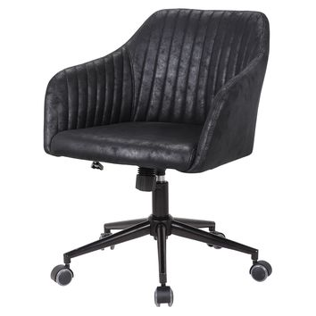 Bologna Fabric Office Chair Lustrous Black