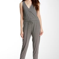Noir Surplice Jumpsuit