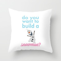 do you want to build a snowman... olaf.. frozen. Throw Pillow by studiomarshallarts