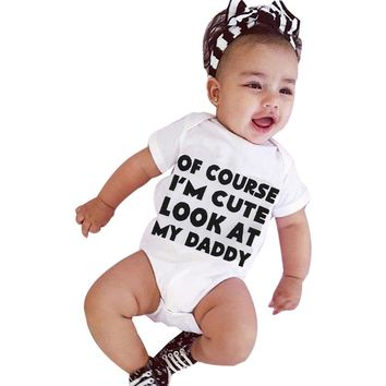 baby rompers baby clothes cotton blended Newborn Infant Baby Girl Boy Short Sleeve Letter Romper Jumpsuit Outfits drop shipping