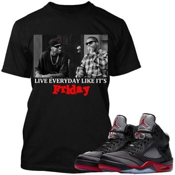 Jordan Retro 5 Satin Sneaker Tees Shirts to Match - FRIDAY PG