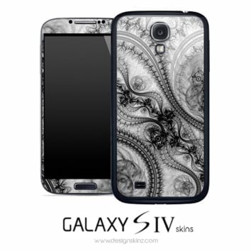 Black & White Digital Fume Skin for the Galaxy S4
