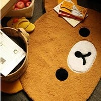 Rilakkuma Relax Bear Cute Dining Room Bedroom Big Rug Carpet