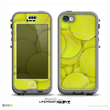 The Tennis Ball Overlay Skin for the iPhone 5c nüüd LifeProof Case