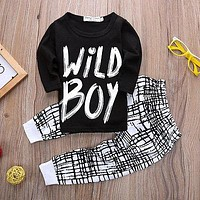 2016 autumn baby boy clothes Long sleeve Top + pants 2pcs sport suit baby clothing set newborn infant clothing bebe