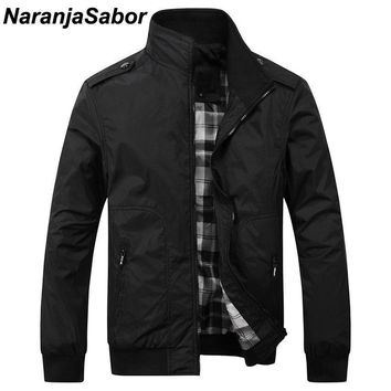 Trendy NaranjaSabor Spring Autumn New Men's Casual Jackets Fashion Male Solid Coats Slim Fit Military Jacket Branded Men Outwears 4XL AT_94_13