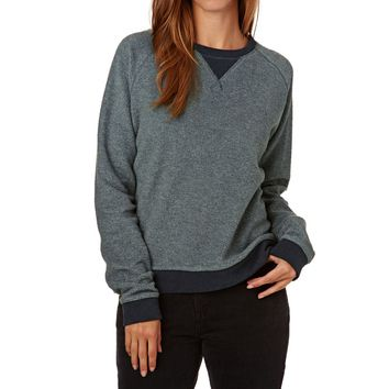 SWELL Illy Supersoft Reverse Crew Sweatshirt - Navy Marle
