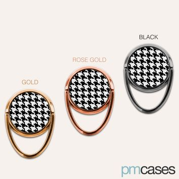 Houndstooth Phone Ring Finger Holder Mount Stand Grips