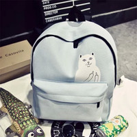 New lovely little cat casual canvas backpacks students school bag