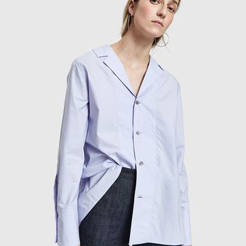 Marni / L/S With Collar Neck Shirt in Wistaria