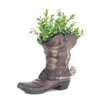 Flower Planter-Spurred Cowboy Boot