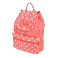 Sweet Fresh Polka Dot Print Bowknot Backpack