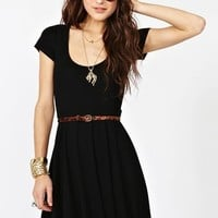 Crossed Skater Dress in Clothes Dresses at Nasty Gal
