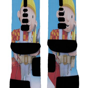 Bob The Builder Custom Nike Elite Socks