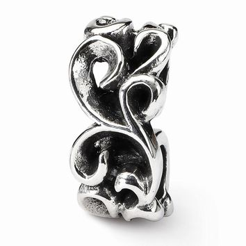 Sterling Silver Reflections Scroll Connector Bead