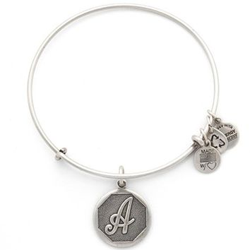 Women's Alex and Ani 'Initial' Adjustable Wire Bangle