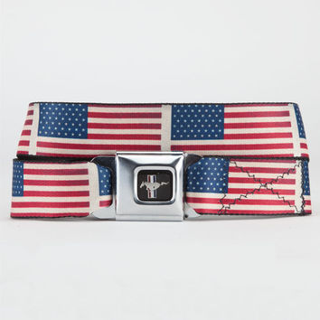 Buckle-Down Mustang Flag Belt Red/White/Blue One Size For Men 22443694801