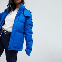 The North Face Padded Waterproof Jacket In Blue at asos.com