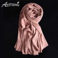 [AETRENDS] 2016 Winter Brand Scarves Women Cashmere Feel Scarf 16 Colors for Choice Z-3983