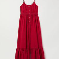 Cotton Maxi Dress - Red - Ladies | H&M US