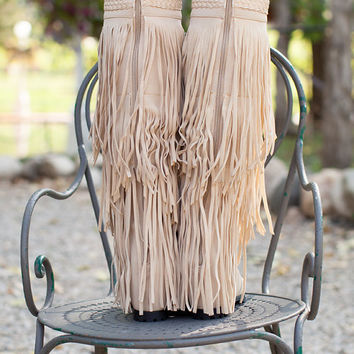 (Pre-Sale) Workin it Fringe Boots Cream
