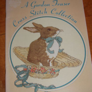 Cross Stitch Pattern By GLoria & Pat Gordon Fraser Book Easter Bunny & Hat