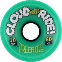 Cloud Ride Freeride 70Mm 80A Wheels Teal