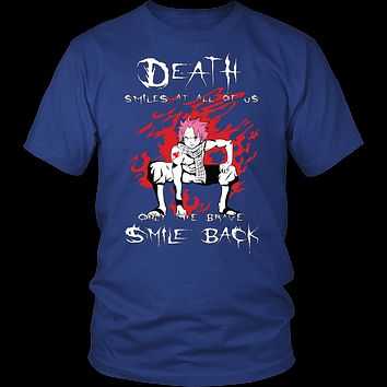 Fairy Tail - Death smiles at all of us only the brave smile back natsu - Men Short Sleeve T Shirt - TL01121SS