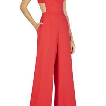 BCBG Rossana Cutout Back Jumpsuit