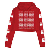 Demi Lovato Official Store | Red Crop Hoodie
