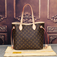 LV Louis Vuitton Classic Women's High Quality Two-Piece Tote Bag F Coffee LV Pattern