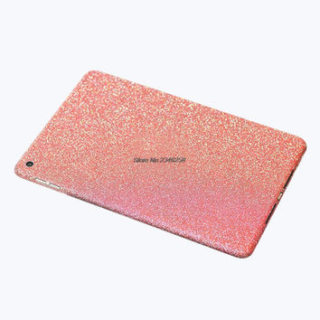 Luxury Sparkly Glitter Shining Bling Full Body Wrap Skin Sticker For iPad Air 2 Proetction Case Cover Air2