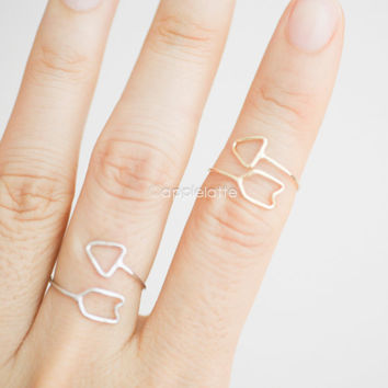 wire arrow ring, arrow jewelry, dainty ring, delicate arrow ring, arrow jewelry