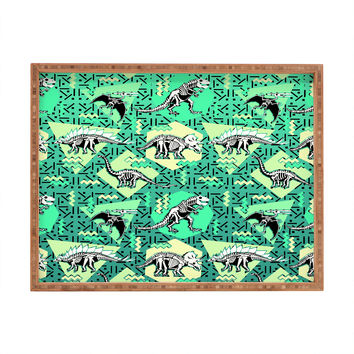 Chobopop Nineties Dinosaur Skeleton Pattern Rectangular Tray