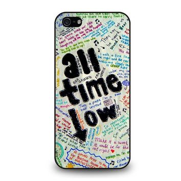 all time low colour iphone 5 5s se case cover  number 1